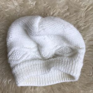 Other - White knit baby hat